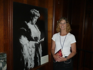 Debbie Kallman in Mrs. Wharton's Library