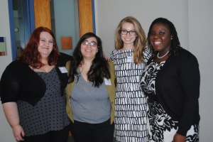 GHA Officers left to right: Janelle Bourgeois, Marwa Amer, Emily Pipes, Felicia Jameson