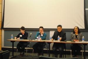 Social Justice Panel left to right: Libby Sharrow, Julio Capó, Richard Chu, Barbara Krauthamer