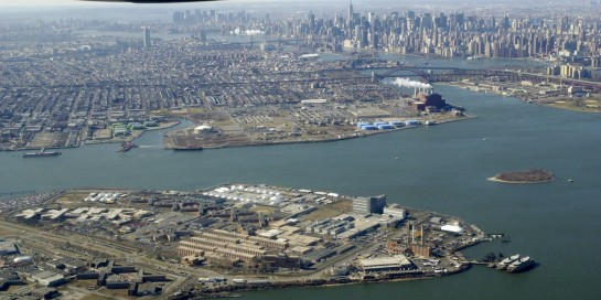Aerial view of Rikers Island. Photo courtesy of Todd Maisel/NY Daily News Archive via Getty Images.