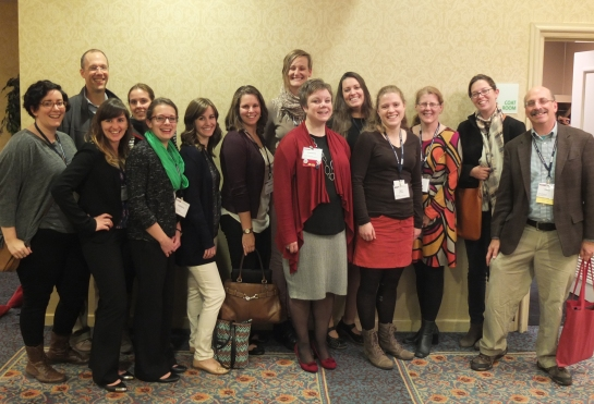 UMass Amherst Public History faculty, alumni, and students at NEMA 2015.