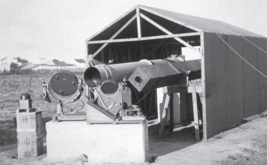 Figure 1: Sir Arthur Eddington's photographic equipment being deployed on a racecourse in Sobral, Brazil. Courtesy of the Philosophical Transactions of the Royal Society A and the Science Museum, London.