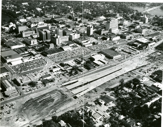 I-4 Construction in Downtown Orlando, 1957