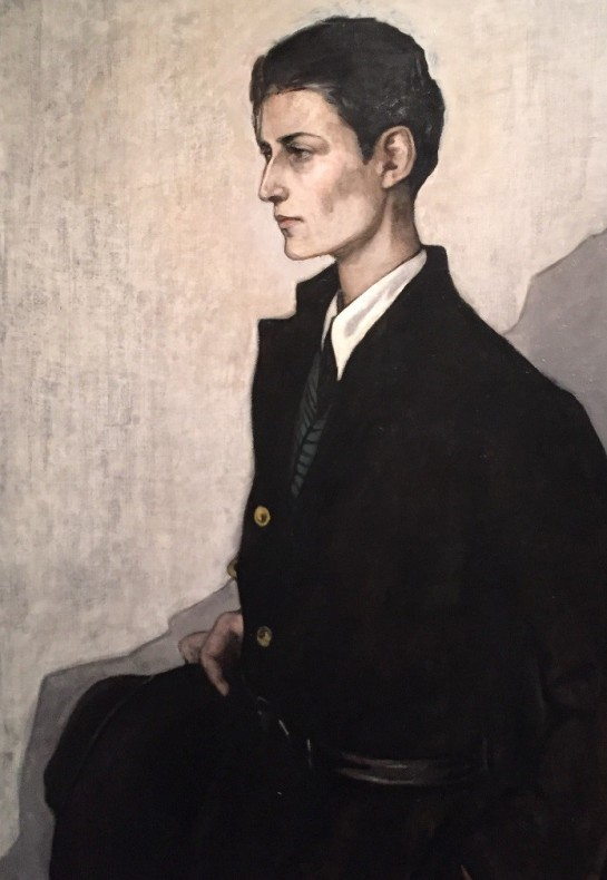 Romaine Brooks, Peter (A Young English Girl), 1923-24, oil on canvas, image taken by the author.